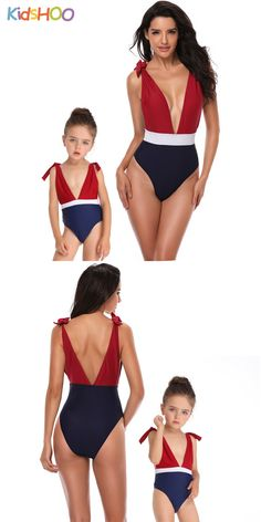 Mommy and Me Matching Swimwear 3 Color Matching Swimsuit - Mommy and Me Color Matching Swimsuit Source by cisola - Casual Outfits For Moms, Mommy And Me Outfits, Family Outfits, Mom And Daughter Matching, Mother Daughter Outfits, Mom Daughter Photography, Mommy And Me Swimwear, Black Lace Leggings, Zaful Bikinis