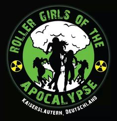 My daughter's new roller derby team in Germany. So excited.