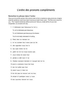 French Direct and Indirect Object Pronouns Test by MmeJennifer Knight