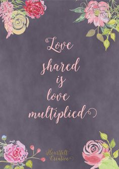 Love shared is love multiplied LDS Planner Mormon Planner Relief Society