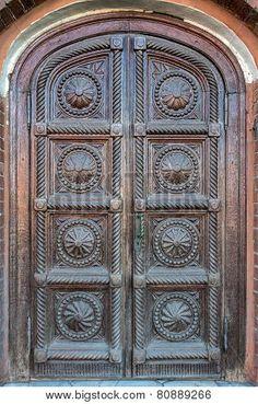Historical door in Moscow