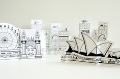 "Free printable paper cities--buildings, vehicles, people...even the Sydney opera house! Must include this in our ""architecture"" lessons!"