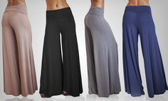 Groupon - $ 24.99 for OhConcept Women's Pallazo Pants ($ 65 List Price). Multiple Colors Available. Free Shipping and Returns.. Groupon deal price: $24.99