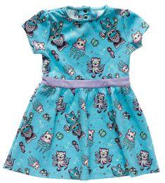 SOURPUSS KITTENS OF THE SEA KIDS DRESS $27.00 #sourpuss #sourpussclothing #kidsdress #kittens #mermaids #mimsy