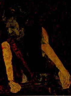 "Saatchi Art Artist CARMEN LUNA; Painting, ""68-Expressions of Carmen Luna. Bruce Springsten."" #art http://www.saatchiart.com/art-collection/Painting-Mixed-Media/Expressions-of-Carmen-Luna/71968/25377/view"
