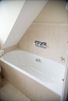 Small Bathrooms Under Eaves bath under eaves.seems to work!   bathrooms   pinterest   bath