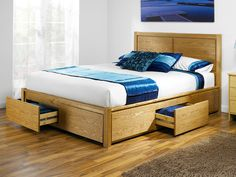 Love the Stoarge -- Opus Double Size Wooden Bed Frame with 4 Drawers |  Bedroom: HEADBOARDS&BEDS | Pinterest | Wooden bed frames, Bed frames and  Drawers