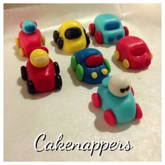 Cars fondant toppers