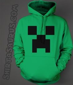 Creeper Hoodie #minecraft #creeper Minecraft Outfits, Minecraft Costumes, Minecraft Party, Minecraft Clothes, Geek Shirts, Fandom Fashion, Creepers, Hoodies, Sweatshirts