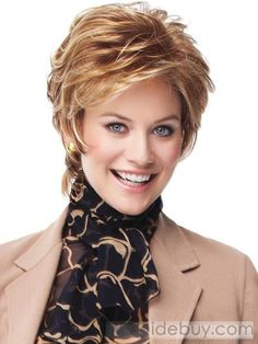 Vantage Point by Eva Gabor Wigs – Monofilament, Lace Front Wig - All For Little Girl Hair Short Hairstyles For Thick Hair, Short Hair Wigs, Short Hair With Layers, Short Hair Cuts For Women, Human Hair Wigs, Wig Hairstyles, Curly Hair Styles, Short Haircuts, Hairstyle Short
