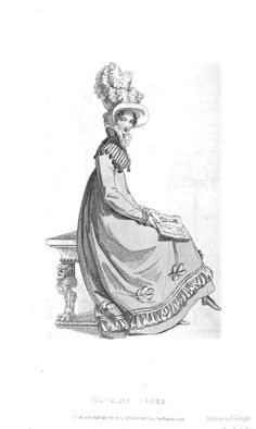 Walking Dress from Ackermann's Repository of the Arts April 1819