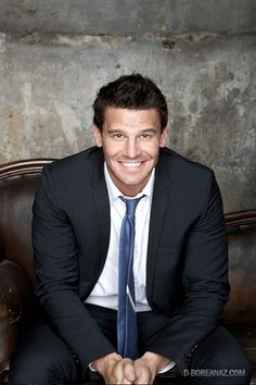 David Boreanaz! - Much better as Booth than Angel. I didn't like him as Angel at all but love him as Booth. Much better fit I think.
