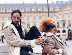 Willy Cartier & Tina Kunakey for CHMPGN x Schott
