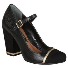 Sapato Cravo & Canela Preta e Dourada Preto - Paquetá