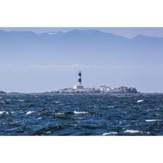 Race rocks lighthouse is situated on the juan de fuca strait near the southern tip of vancouver islandBritish columbia canada Canvas Art - Debra Brash Design Pics (19 x 12)