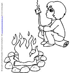 camping this one s so cute a couple of free summer coloring pages