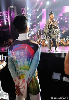 Patti LaBelle celebrates Prince with a tribute at the Soul Train Music Awards.