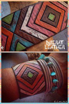 Leather Tribal Chevron Bracelet Chevron Jewelry Tribal от dgierat