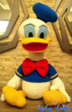 CROCHET - D DUCK / CANARD / EENTJE - Donald duck