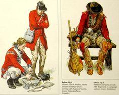 Flintlock and tomahawk: American war of Independence Redcoats