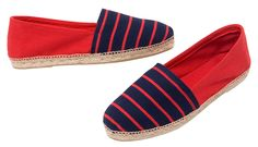 Red and navy – NIKI – full of pizzazz and panache.  NIKI espadrilles made in Spain at www.espadrillesetc.com