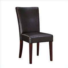 Powell Brown Bonded Leather Parsons Chair, 20-1/2-Inch Seat Height - Listing price: $139.00 Now: $84.48