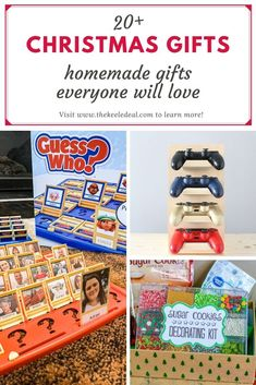 20  Christmas Gifts - homemade gifts everyone will love Christmas Gift List, Diy Holiday Gifts, Easy Diy Gifts, Homemade Christmas Gifts, Family Christmas, Homemade Gifts, Christmas Ideas, Gifts For Husband, Gifts For Kids