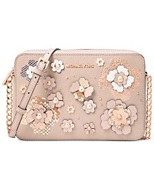 e408a16c51bf Image result for Michael Kors Ginny Floral Applique Cross Body ...