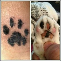 my tattoo. I used an inkpad to get my cats pawprint.