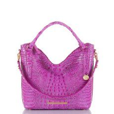 The #Brahmin Norah Hobo Bag in Peony, easy style with a chic relaxed look