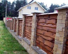 Забор под старину из дерева самара