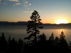 It's always nice to come home to a beautiful Lake #Tahoe sunset!