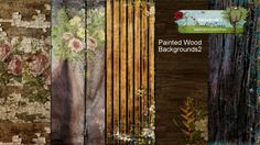 Painted Wood Backgrounds 2