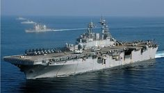 army USS Boxer (LHD 4) aircraft carrier for non-fixwinged aircraft.