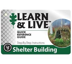 UST Learn and Live Shelter Building Cards Pocket How-To Guide with Photos from 5col Survival Supply