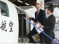 VIP tour ... Prince William, Duke of Cambridge, is shown a plane as he visits Pacific Aerospace in Hamilton New Zealand 12/04/2014