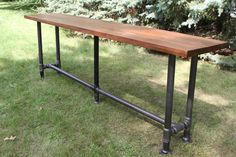 The Foundry Table Reclaimed Bar Table Hardwood Solid by iReclaimed
