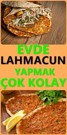 Making Lahmacun at Home - For lahmacun, which is one of the most wonderful dishes of our culture, you argue that we will make - Turkish Recipes, Ethnic Recipes, Comfort Food, Pastry Cake, Food Menu, Food Hacks, Food Art, Diet Recipes, Food And Drink