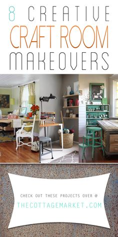 8 Creative Craft Room Makeovers - The Cottage Market #CreativeCraftRooms, #CraftRoomMakeovers, #CraftRoomInspiration