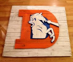 Denver Broncos Old School Logo Sign