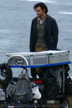 Aidan Turner filming Season 2. Photo credit: www.facebook.com/KernowPhotos