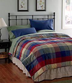 #LLBean: Ultrasoft Cotton Comforter, Plaid. L.L. Bean.