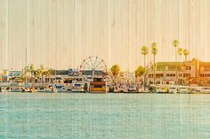 Newport Beach #California Art Print on Bamboo Panel by @Cardelucci | Photo © Cardelucci