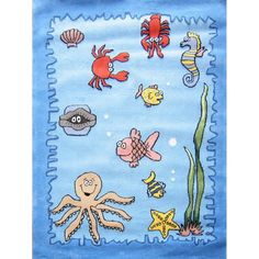 Zoomania Collection Seaworld x size area rug. Hand Tufted, Approx thick, Extremely Durable, Stain resistant, Carved detailing and minimal shedding. Clearance Rugs, Sea World, Under The Sea, Kids Bedroom, Furniture Design, Area Rugs, Carving, Kids Rugs, Minimal