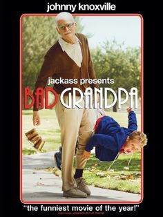 Rent Jackass Presents: Bad Grandpa starring Johnny Knoxville and Jackson Nicoll on DVD and Blu-ray. Get unlimited DVD Movies & TV Shows delivered to your door with no late fees, ever. One month free trial! Funny Movies, New Movies, Movies To Watch, Movies 2014, Comedy Movies, Films, Movies Showing, Movies And Tv Shows, Biker Bar