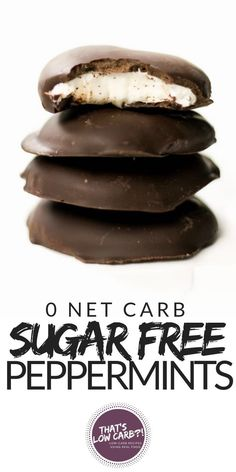 Low Carb Sugar Free Peppermint Patties requires just 4 ingredients to make! These peppermint patties are 0 Net Carbs per patty which makes them THAT much more amazing to enjoy this holiday. via thatslowcarb Keto Desserts, Keto Friendly Desserts, Keto Snacks, Dessert Recipes, Dessert Ideas, Carb Free Desserts, Low Sugar Desserts, Desserts For Diabetics, Low Sugar Snacks