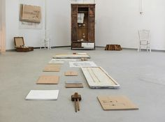 """Installation """"Material Matters _space I"""", Athens School of Fine Arts, 2015.  Materials: plaster, clay, paper, wood, readymades Artist: Georgia Nikolakopoulou Plaster, Athens, Georgia, Clay, Fine Art, Space, School, Wood, Artist"""