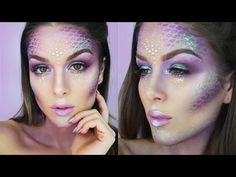 EASY MERMAID HALLOWEEN MAKEUP TUTORIAL | RhiannonClaire - YouTube