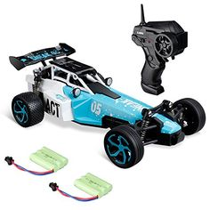Virhuck Mini RC Car Radio Remote Control High Speed Fast Beast with Dual Battery RTR Electric Fast Racing Car for Kids and Adults, Blue Hobby Town, Kids Room Wallpaper, Rc Cars, Power Rangers, Control, Childcare, Drones, High Speed, Backyard Landscaping