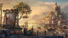 Download Venice Anno Paint Drawn  Resolution Wallpaper 1600x900 | HD Wallpapers